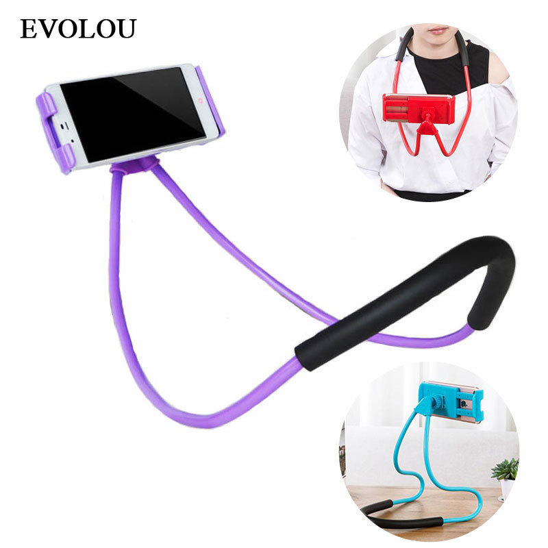 Lazy Bracket 360 Degree Flexible Desktop Phone Holder Stand for iphone X Mobile Support Snake-like Neck Bed Mount Anti-Skid Hot