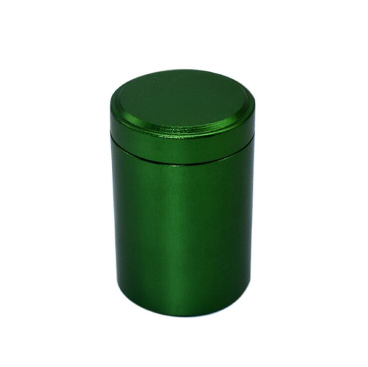 XXXL Metal Round Pill Box Holder Advantageous Container Storage Case Waterproof Tobacco Tea Stash Double open