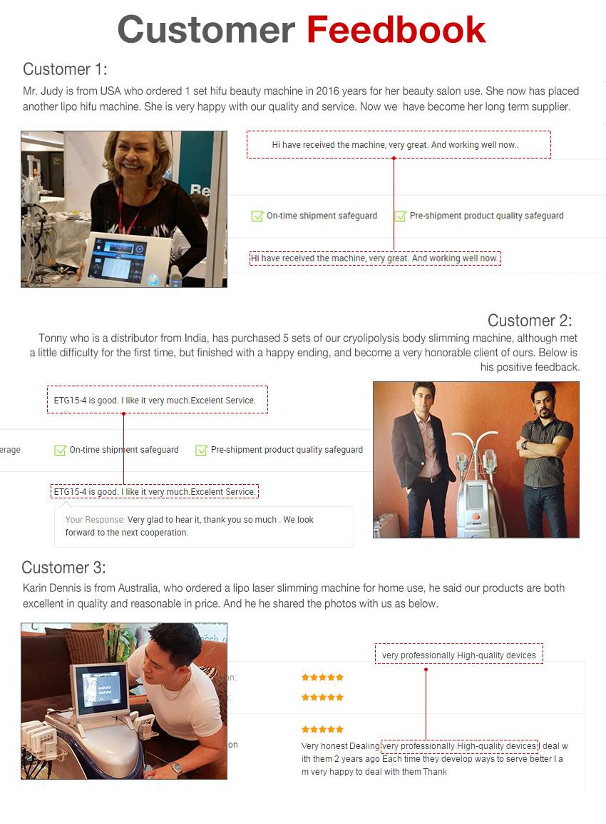 Cryo laser customer feedbook