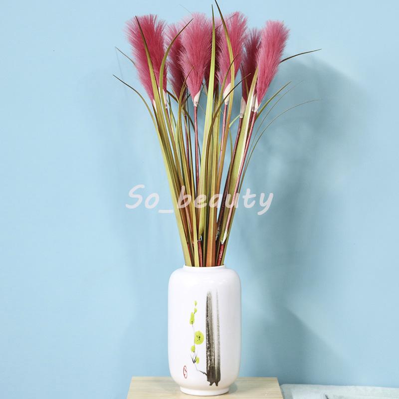 Artificial Reed Grass Stem 86cm Length Home Garden Decor Party Fake Flower Wedding Decorations Multi Colors