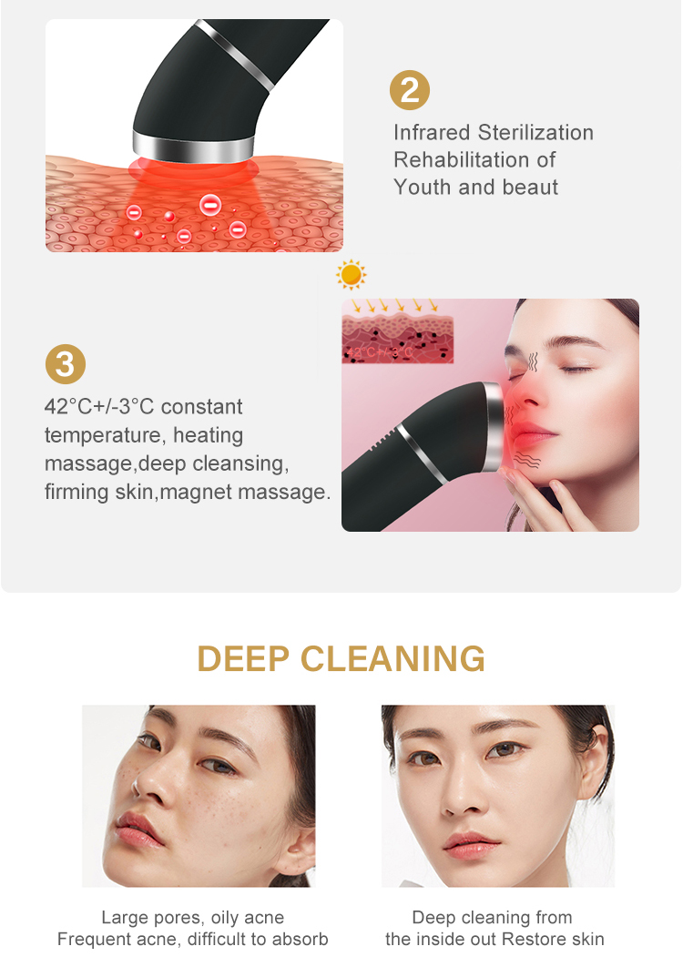 Infrared Face Care Pigment Removal Led Light Therapy Skin Tightening Facial Machines