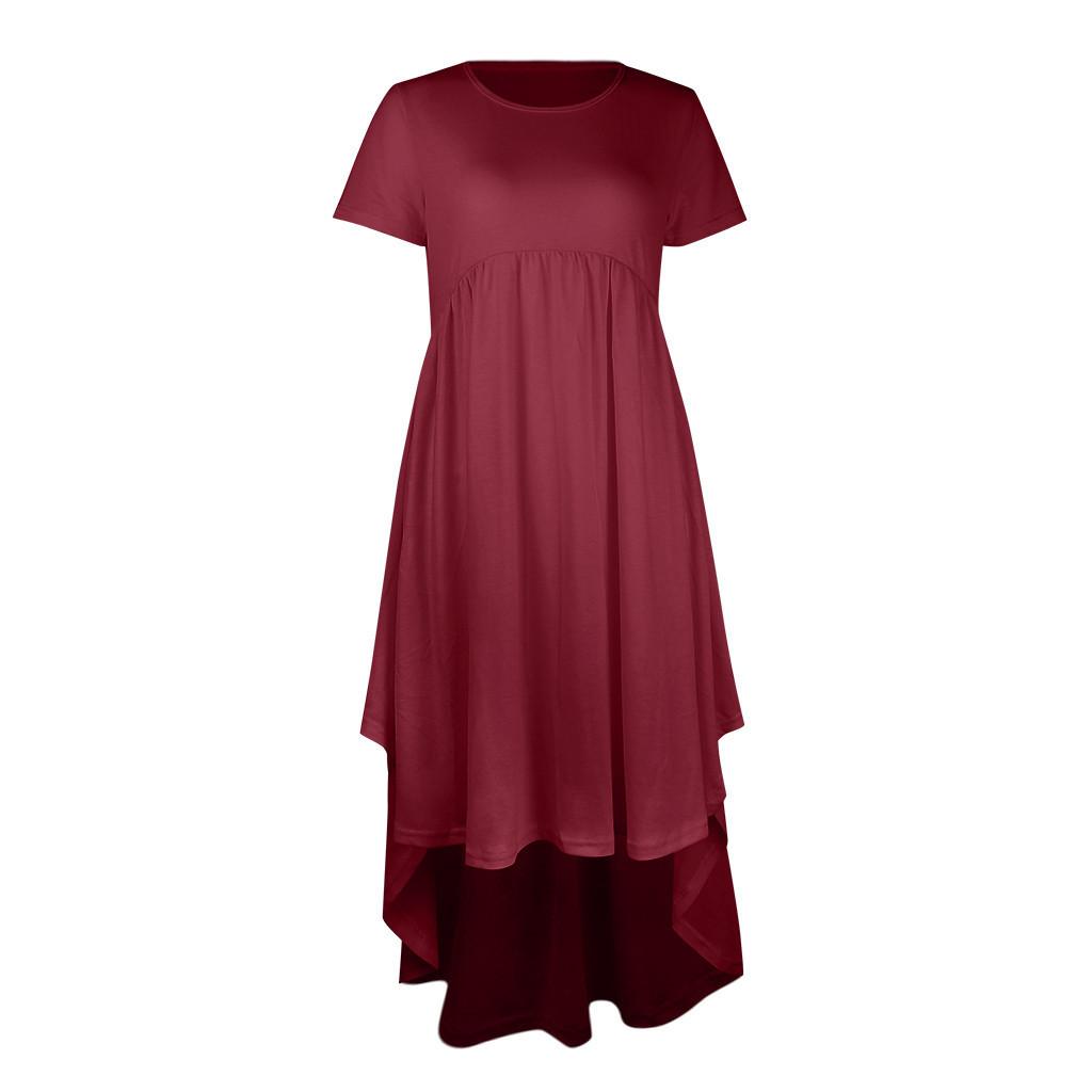Women Maternity Dresses For Baby Showers O-neck Lrregularity Elegant Summer Nursing Dress Pregnancy Clothes Vetement Femme 19jun