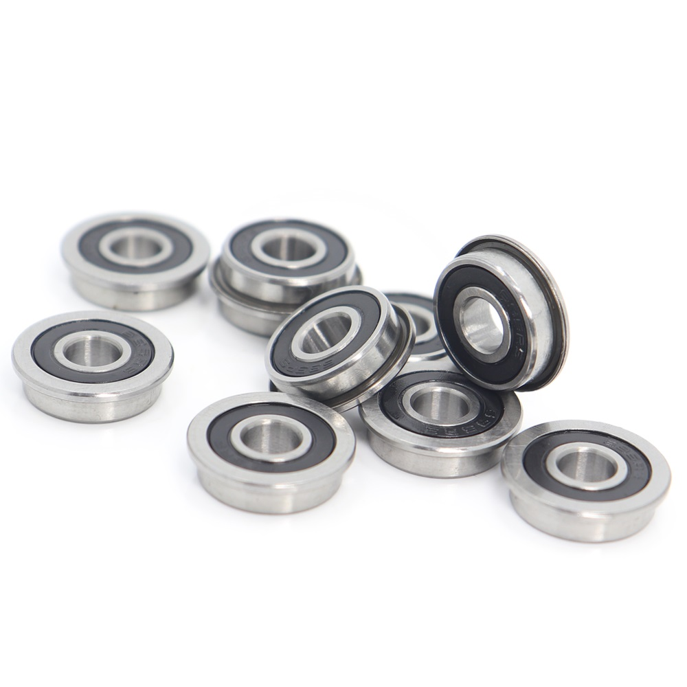 10 Pcs F688-2RS Metal Flanged Rubber Sealed Ball Bearing Bearings 8x16x5 mm