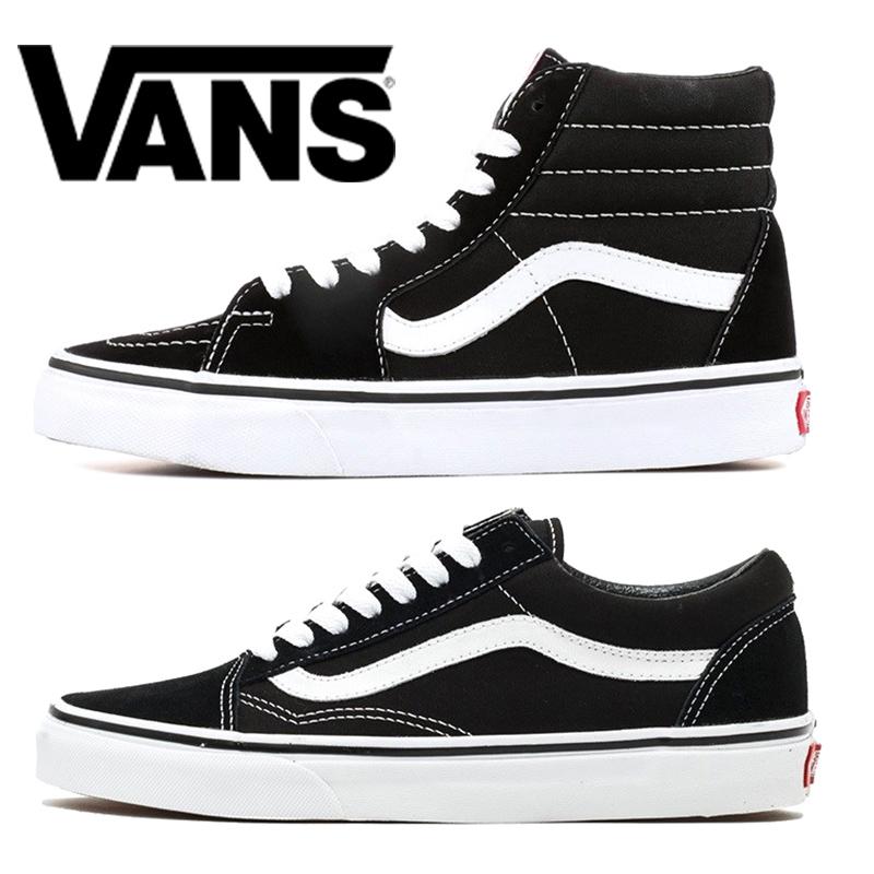 Vans Men Women Casual Shoes Old Skool Canvas Designer Sneakers Triple Black White Fashion Mens Skate Sport Shoes Size 36 44
