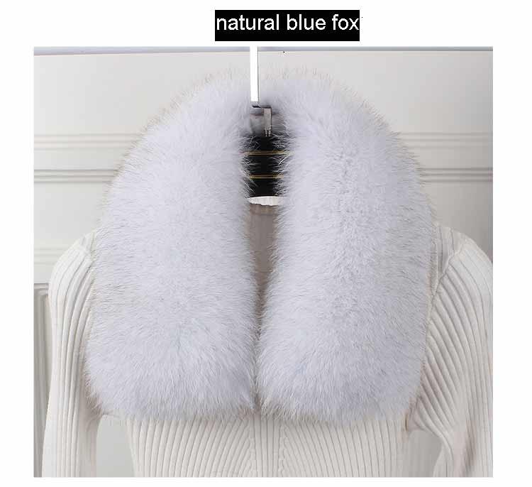 fox fur collar blue fox 1