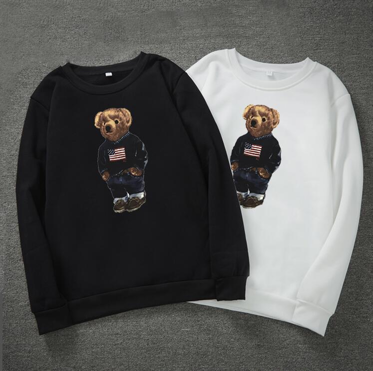 Tide bear print hoodies for men long sleeve pullover mens designer hoodies fashion o neck hoodies men