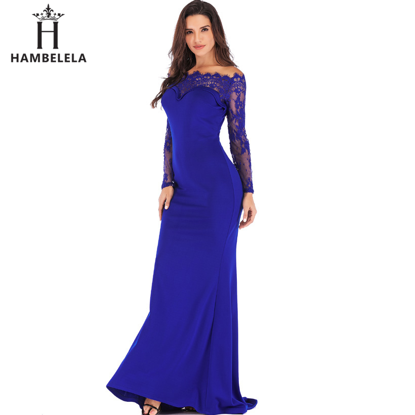 HAMBELELA Robe De Soiree Longue Long Sleeve Mermaid Evening Dresses Formal Evening Gowns China Vestido Longo Bodycon Lace Dress (16)