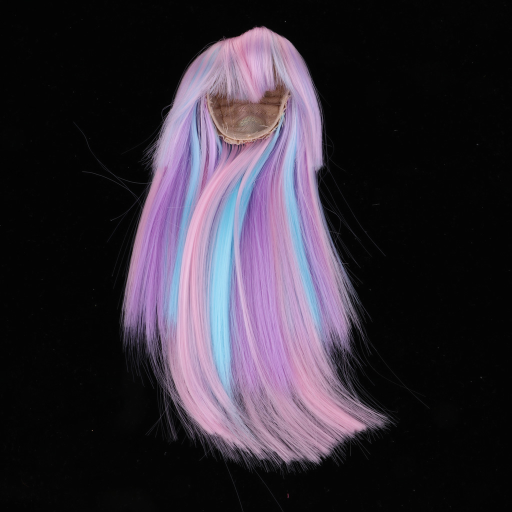 Sweet 1/4 Dolls Curly / Straight Long Hair Wig Hairpiece Hairstyles for BJD Doll DIY Making Accessories 9 Colors