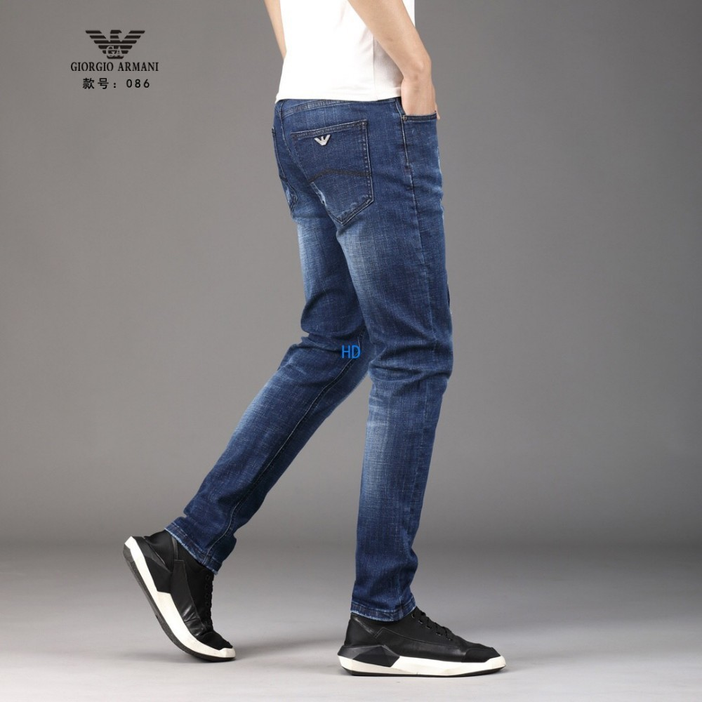 19ss New Fashion Design For Men High Quality And Exquisite Korean Edition Jeans Embroidery Slim Casual Small Straight Foot Trousers 43