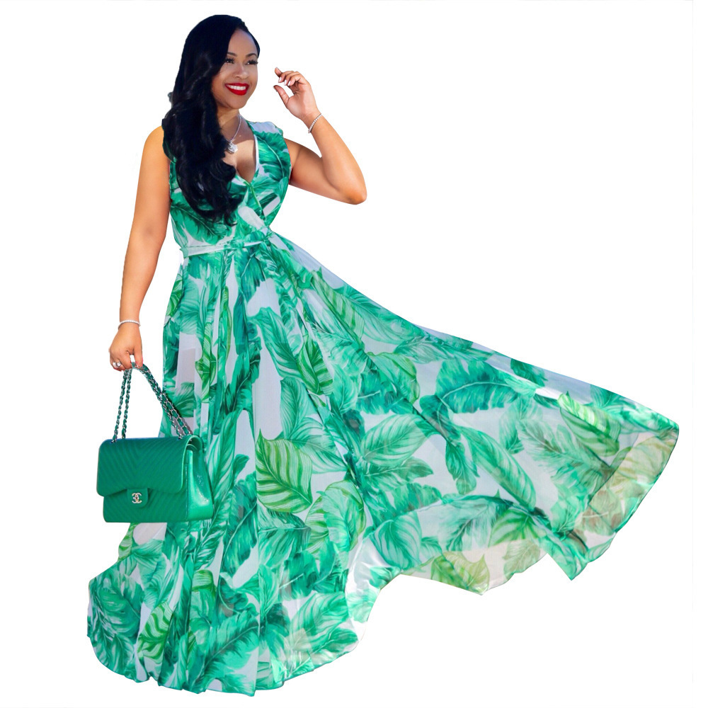 2019womens une pièce robe sans manches été jupe designer maxi robe haute qualité lâche robe élégante luxe clubwear