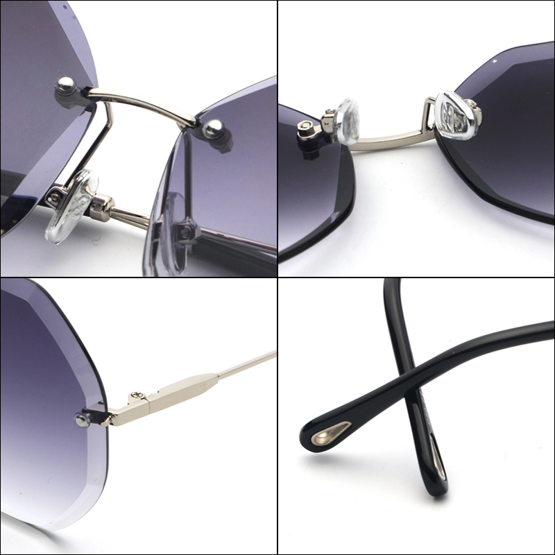 Octagon Sunglasses Women Fashion detaail (11)