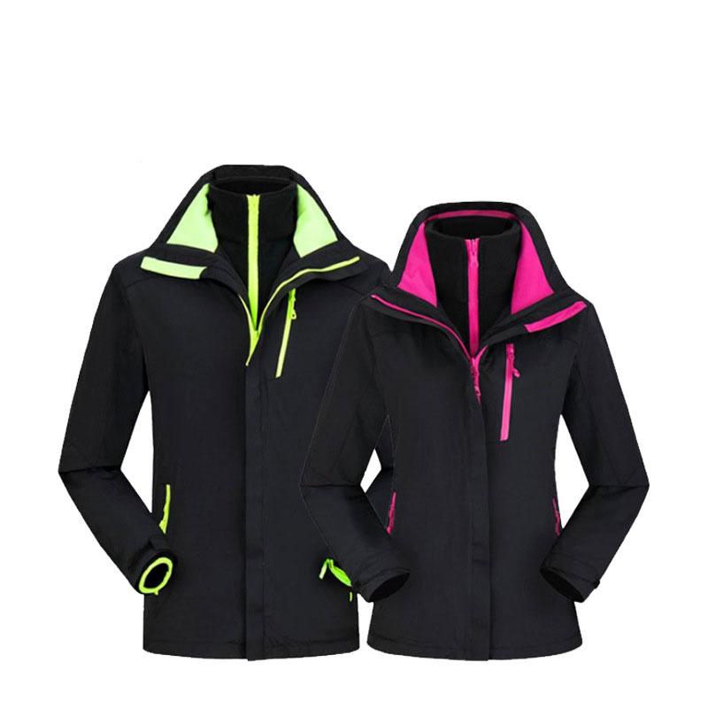NEW Women Wind Waterproof Raincoat Thickening Warm Outdoor Hooded Jacket Coat ks