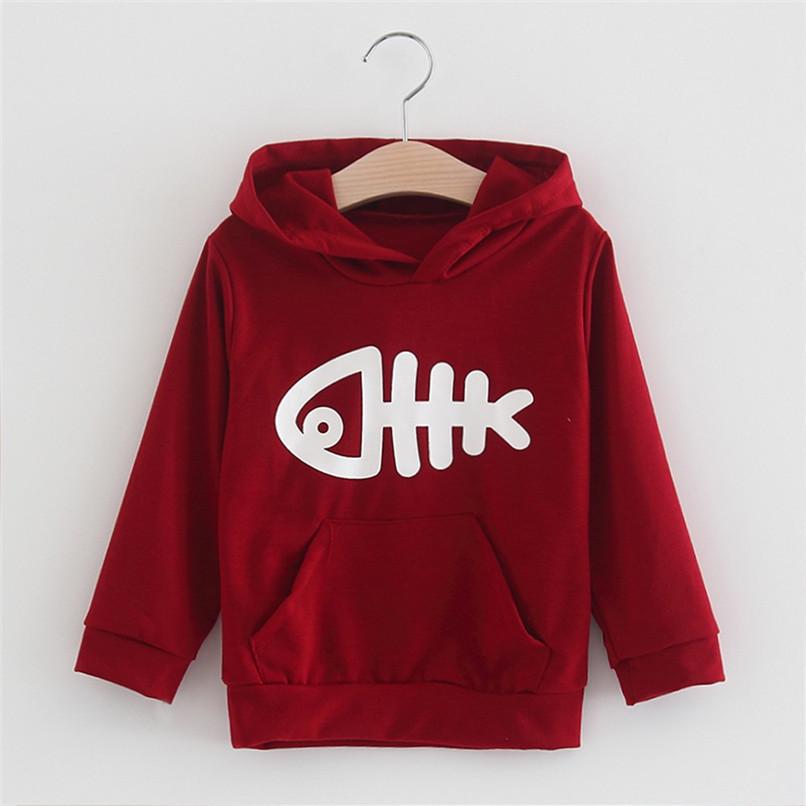 Kids Clothes Kids Hoodies Children Baby Girls Long Sleeve Fish Bone Printed Hooded Sweatshirt Tops Clothes Girls hoodies N01#F (19)