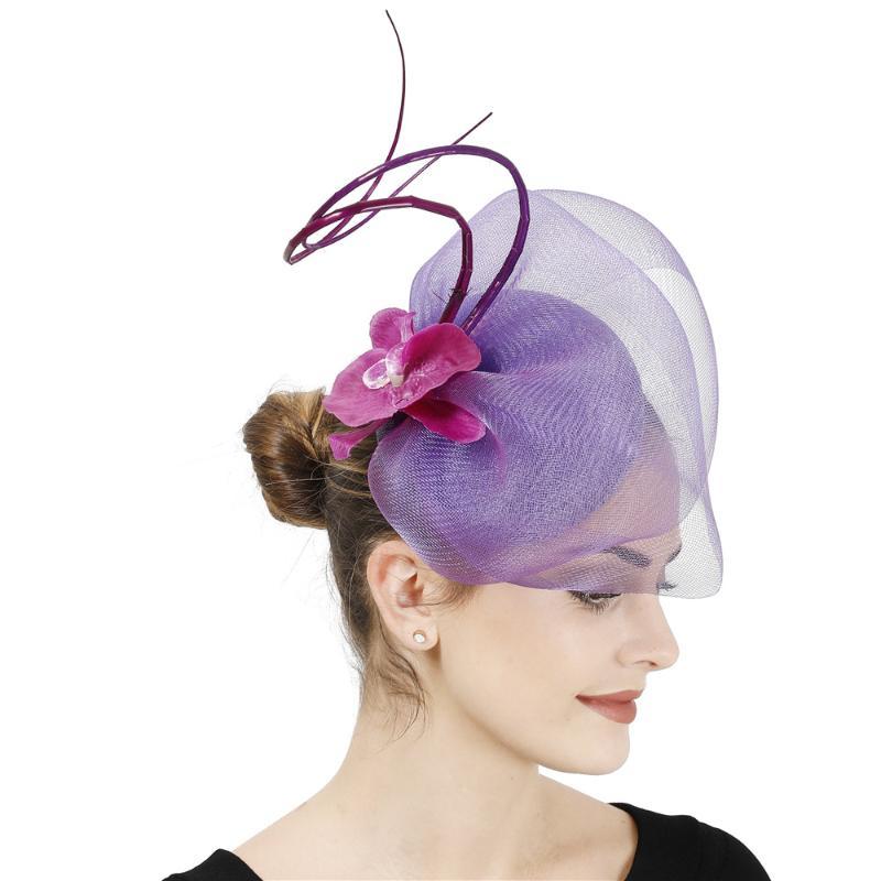 Wedding Party Race Game Headpiece Fascinator Flower Hat Hair Clip Headband