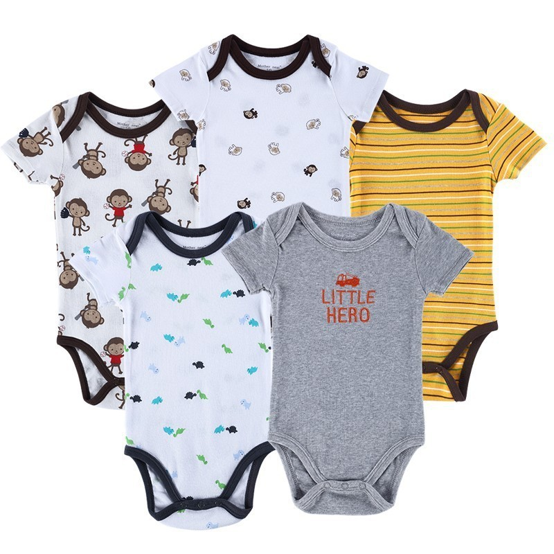 Luvable Friends 5 Pieceslot Baby Body Roupa Infantil Infant Clothing Lovely Bird Bodysuit Pattern New Born Baby Clothing (4)