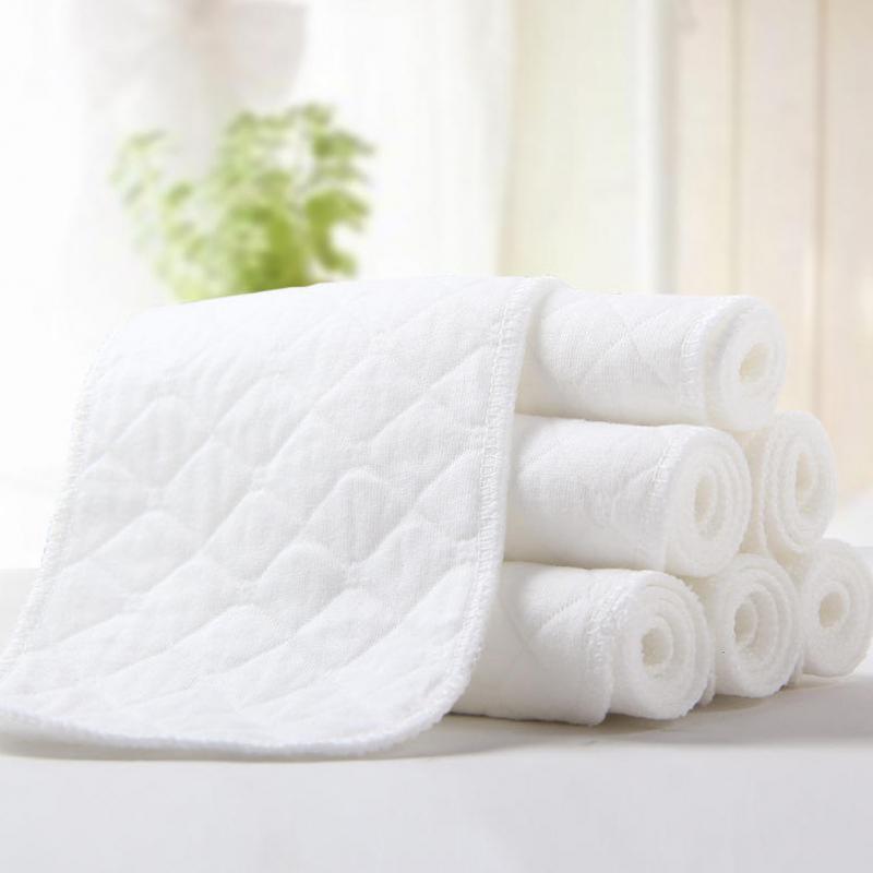 5 PCS//Set Neugeborene Windel Bambus Holzkohle Faser Tissu Lavable 4 Layers