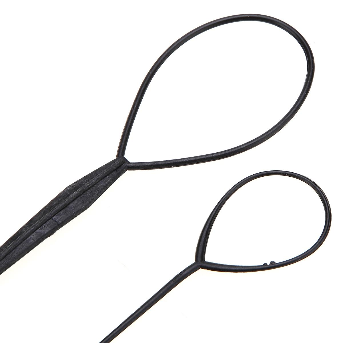 2 pz / set Pull Capelli Ago Coda di Cavallo Capelli Braider Creatore Loop Styling Coda Clip Capelli Treccia Maker Styling Strumenti Fai Da Te