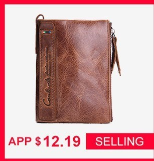 CONTACT/'S 2018 New Arrival Genuine Leather Men/'s Wallet For Men Small Zipper