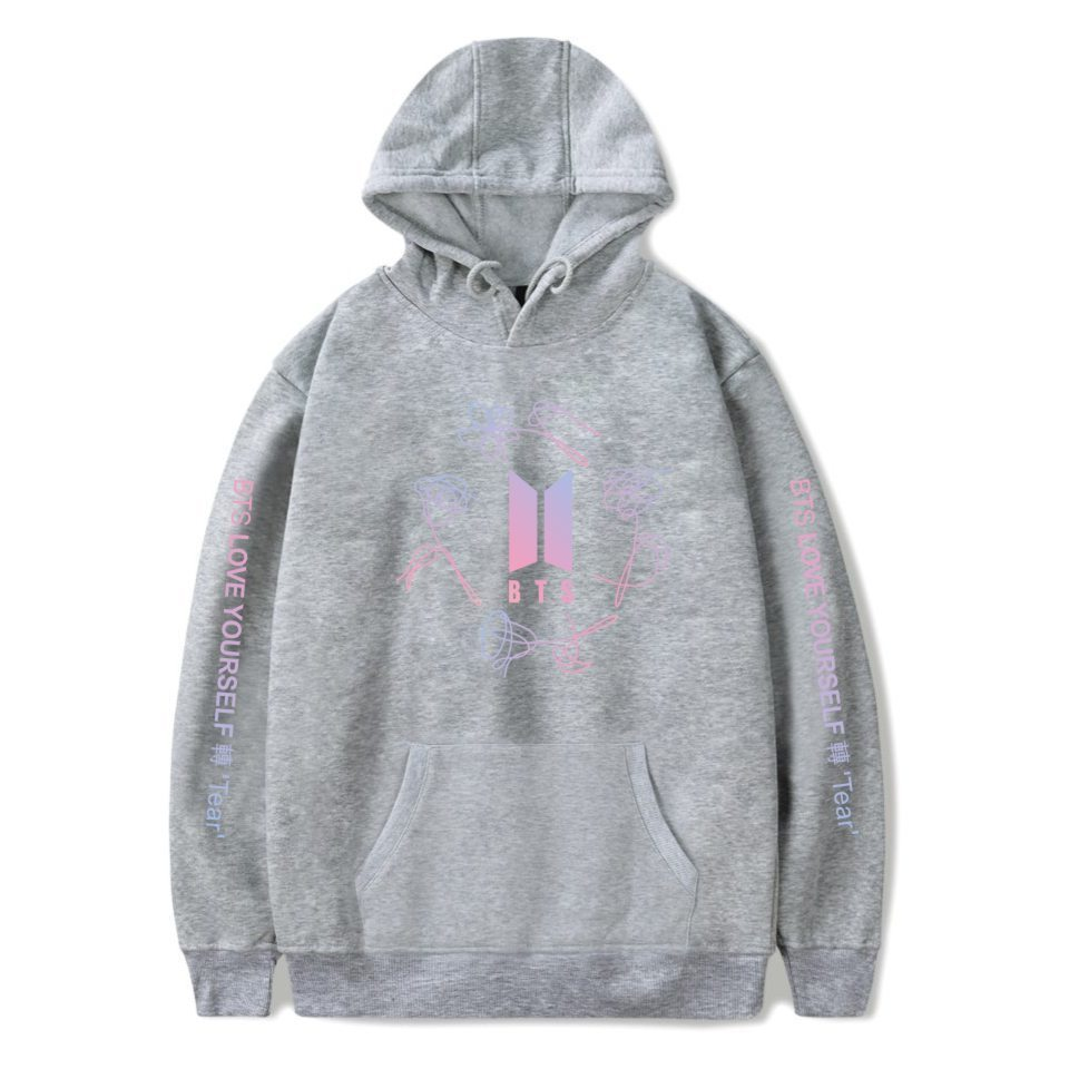 LUCKYFRIDAYF Kpop Bangtan Jungen lieben sich BTS V ARMEE Print Hoodies Sweatshirts Frauen Fans Sweatshirt Hip Hop Kleidung Jungkook C18122901