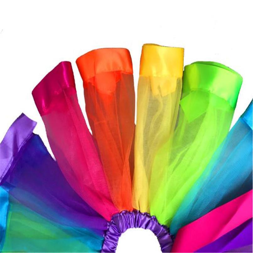 Summer Children Dress Baby Girls Kids Petticoat Rainbow Pettiskirt Bowknot Skirt Tutu Skirts Dance Skirt NDA84L19 (6)
