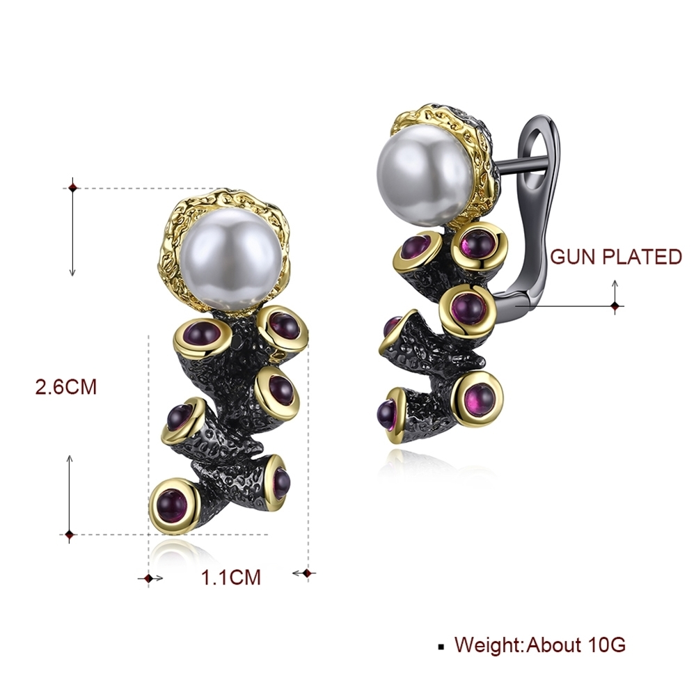 Simulated Pearl earrings WE3784 (10)