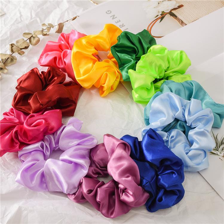 Nach dem zufall farbe feste dame haargummis ring elastische haarbänder reine farbe bommel sport tanzen weiche charmante haarschmuck