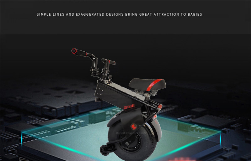 Adult Electric Motorcycle Scooter One Wheel Electric Scooters 18 Inch Fat Tires Portable Electric Unicycle One 1000W 60V 90KM (13)