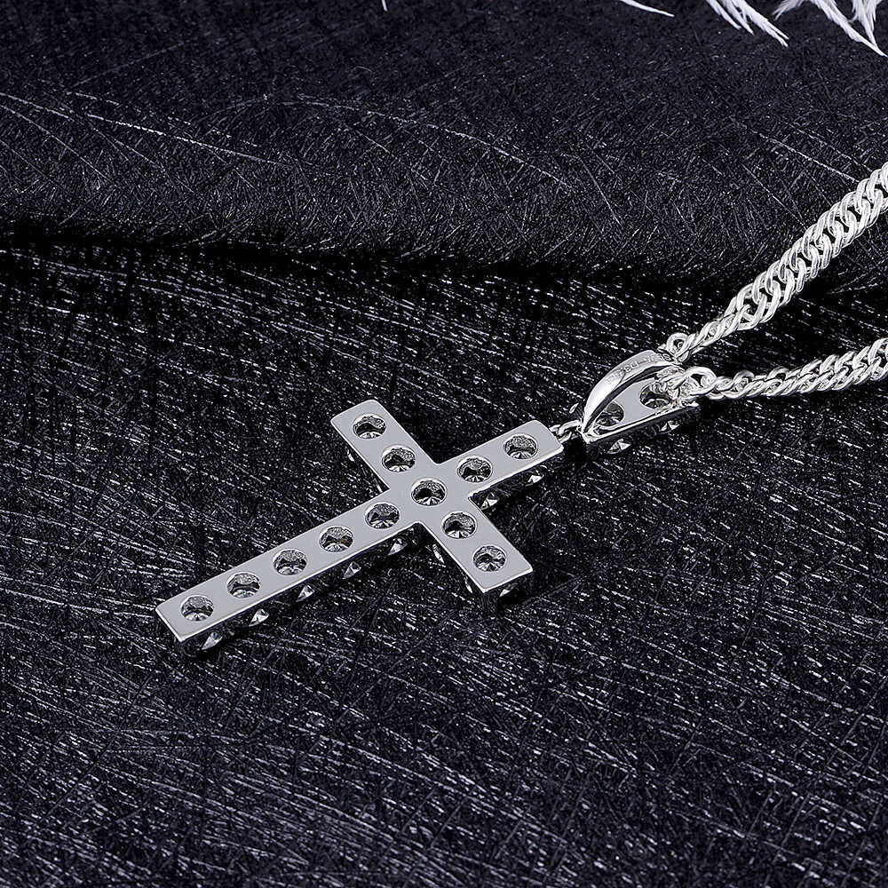 moissanite cross pendant necklace for man (6)