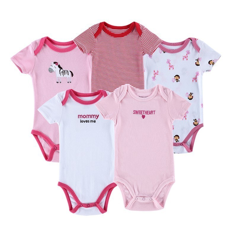 Luvable Friends 5 Pieceslot Baby Body Roupa Infantil Infant Clothing Lovely Bird Bodysuit Pattern New Born Baby Clothing (2)