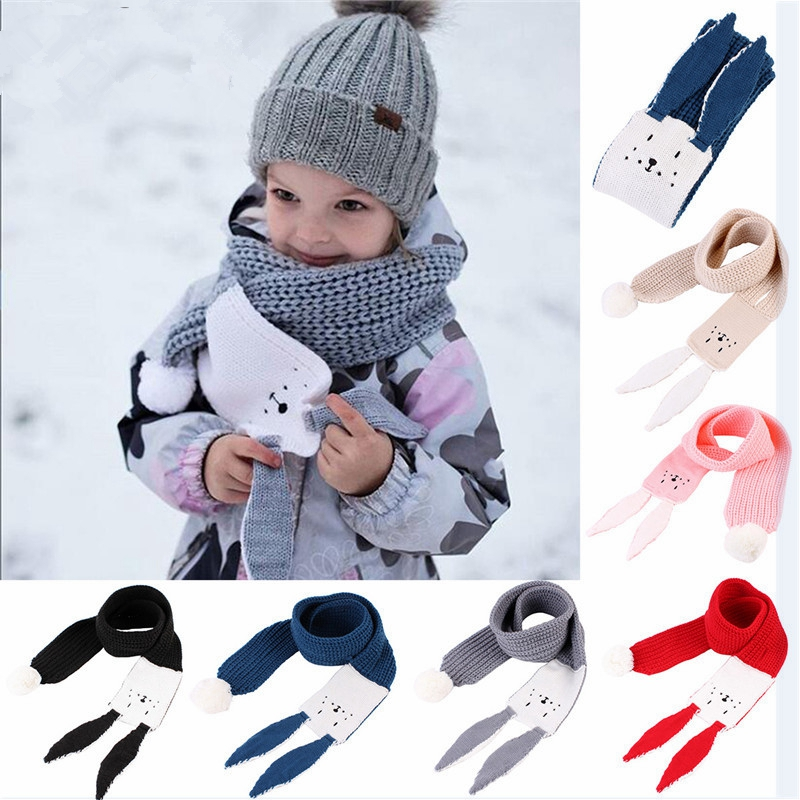 Deer Colorful Christmas Printing Scarf Warm Soft Fashion Scarf Shawl Spring Autumn Winter Kids Boys Girls