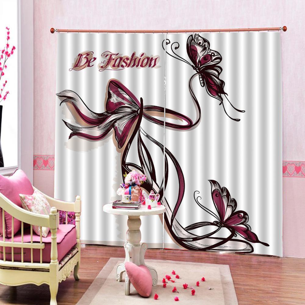 Rideaux Design Pour Chambre accueil classique décor 3d rideaux purple butterfly rideau polyester tissu  rideau pour salon chambre tentures