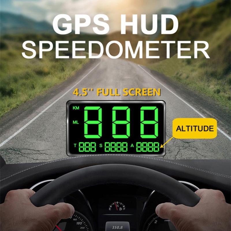 Bediffer Pantalla Digital Universal HUD con Sistema Dual Pantalla a Color HD mph//KM//h L/ímite de Velocidad Advertencia Plug /& Play