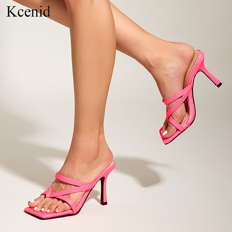 Women Sandals Simple Solid Colors Summer Shoes Square Low Heels Dress Party Wedding Shoes Woman