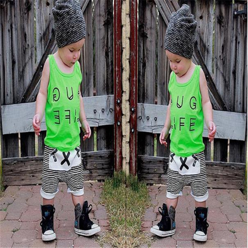 Summer Boys Shorts Kids Baby Boys Striped Print Harem Pants Bloomers Baby Shorts Suit For 2-6T Baby M8Y09 (2)