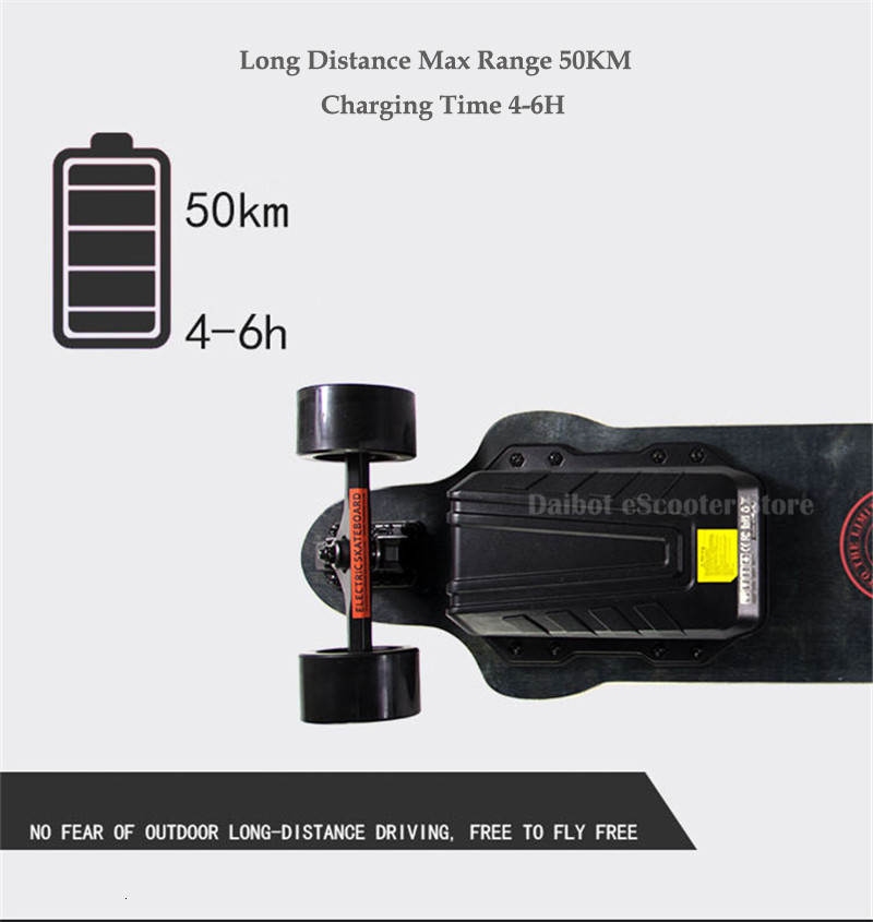 Electric Skateboard For Adult 4 Wheels Electric Scooters Double Drive 600W 36V 40KMH Longboard Electric Skateboard (15)