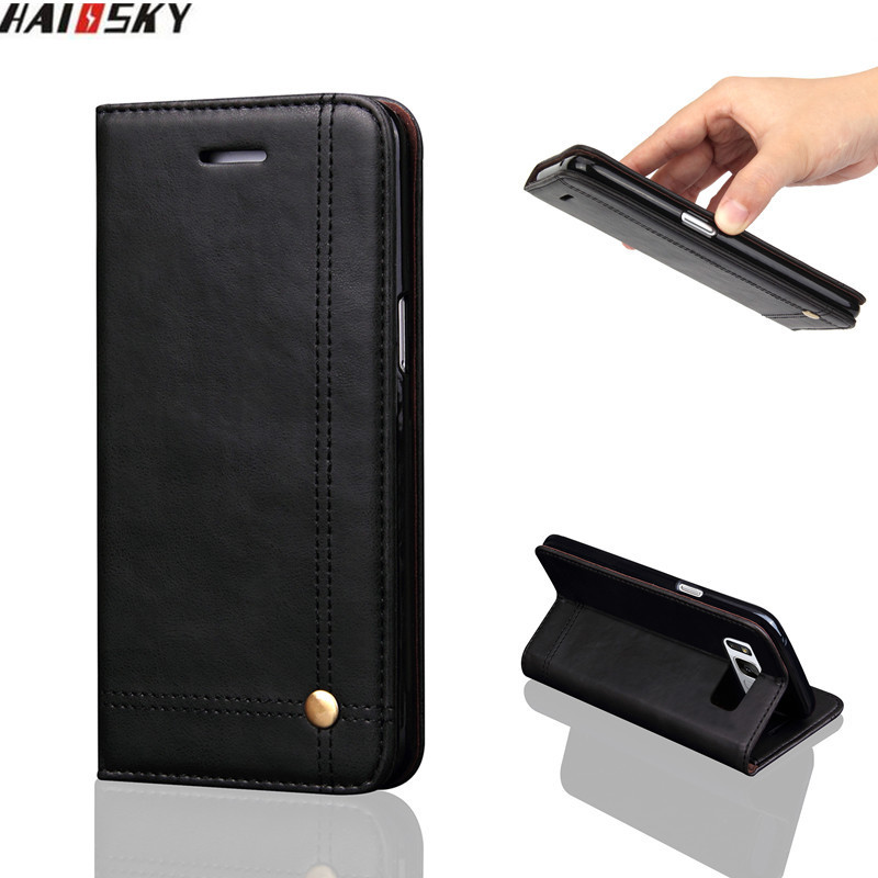 Flip Leather Case For Samsung S9 S10 Plus Magnetic Card Wallet Cover For Samsung Galaxy S8 S9 Plus S10 Lite Note 9 8 Phone Case