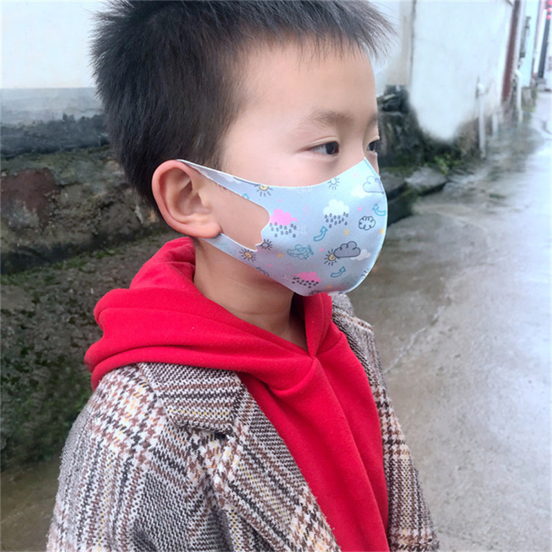 Kids Anti-pollution Masks Boy Girl Cartoon Mouth Face Masks Kids Anti-Dust Breathable Earloop Washable Reusable Cotton Mask