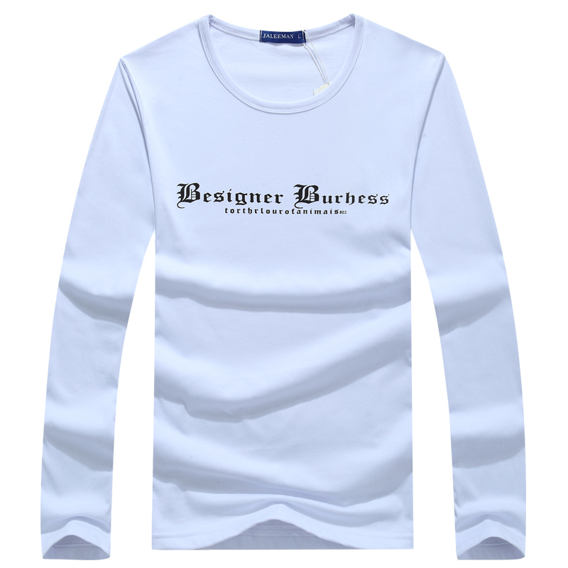 2019 Brand Spring And Autumn T Shirts Fashion O-neck Solid Men T Shirt Casual Long Sleeve Slim Fit T-shirt Men Shirts S- 5xl