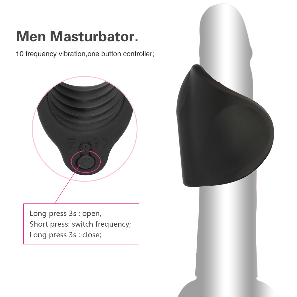 Men Vibrator Penis Trainer Male Masturbator USB Charge Delay Training Glans Vibrator 10 Speed Sex Machine Adult Sex Toys for Men (6)
