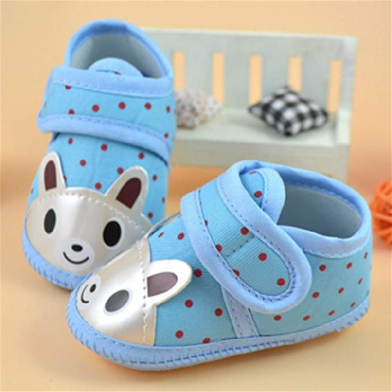 Newborn Girl Boy First Walker Soft Sole Crib Toddler Shoes Canvas Sneaker NDA84L16 (3)