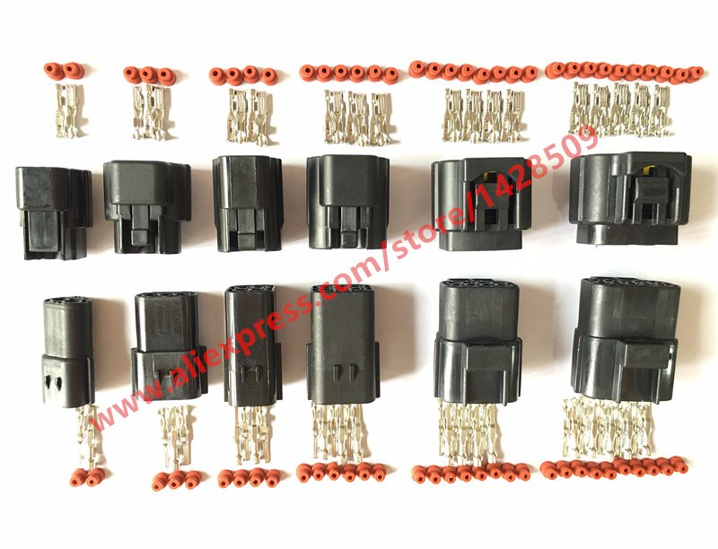 Steckverbinder Stecker Klemme Verbinder 2-12 Pol Kfz PKW LKW Amp Rundstecker
