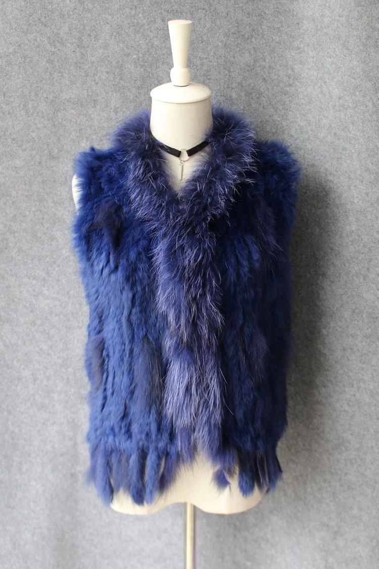 genuine real rabbit fur vest with raccoon fur collar (34)