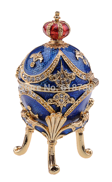 Crown egg faberge trinket box bejeweled jewelry box.JPG