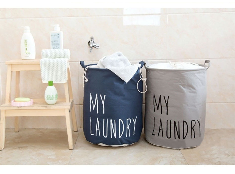 4MICCK Home collapsible laundry basket child toy storage laundry bag for dirty clothes hamper organizer Large Laundry bucket
