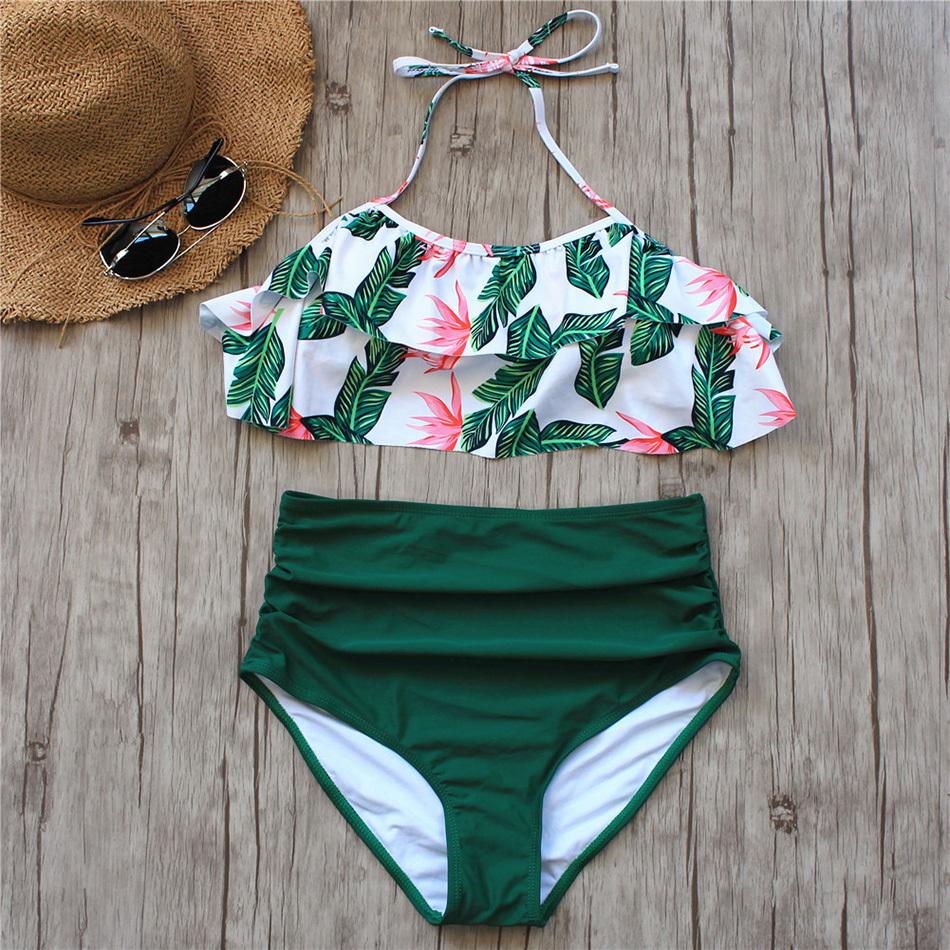 High Waist Bikini Sexy 3xl Female Swimsuit 2019 Plus Size Swimwear Women Brazilian Push Up Bikinis Set Swimming For Bathing Suit Y19042203