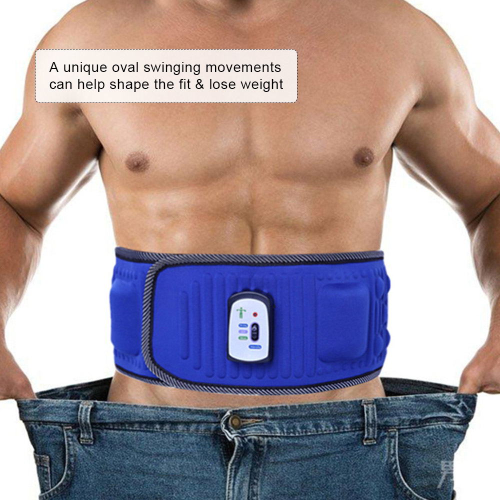 Electric Body Slimming Belt Heat Function Vibra Vibration Weight Loss Rejection Fat Massage Slimming Machine Y181122