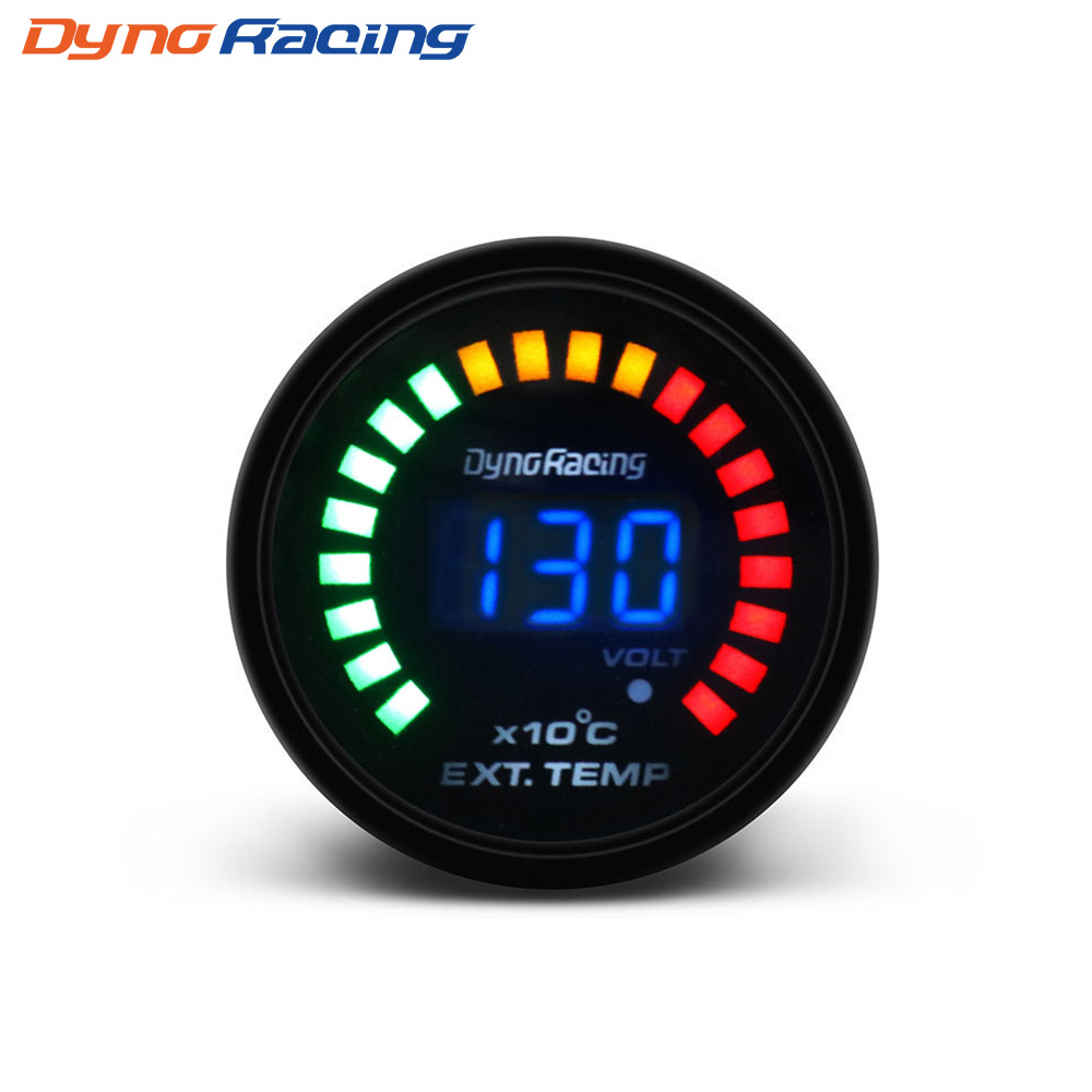 Top Gauge Waterproof DC 8~18V Red LED Digital Display Fahrenheit Voltage Volt Meter//Oil//Water Temperature Gauge Meter 3 in 1 For Motorcycle
