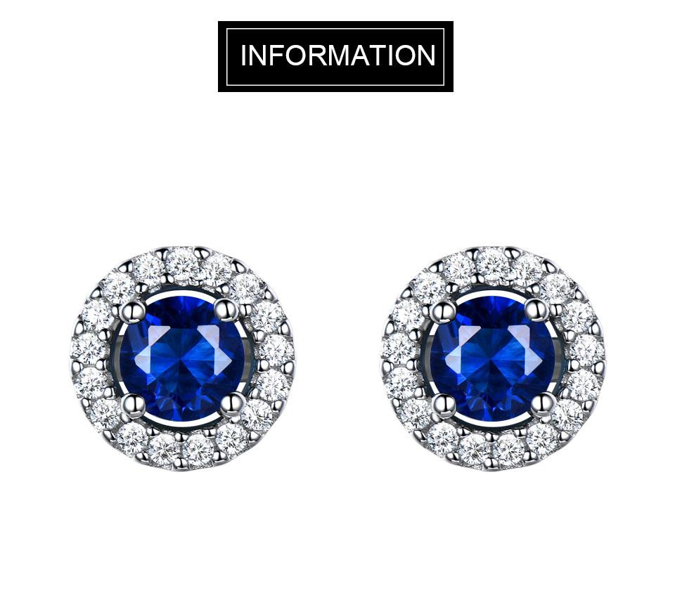 Umcho 925 Sterling Silver Jewelry Set Nano Blue Sapphire Pendant Stud Earrings For Women Brand Fine Jewelry Top Quality