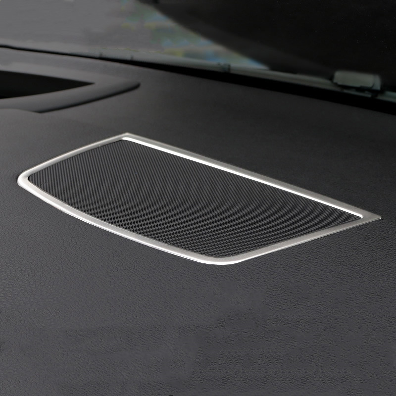 Console-Audio-Loudspeaker-Frame-Decorative-Stainless-Steel-Car-Accessories-Cover-Trim-Strip-For-BMW-X5-E70
