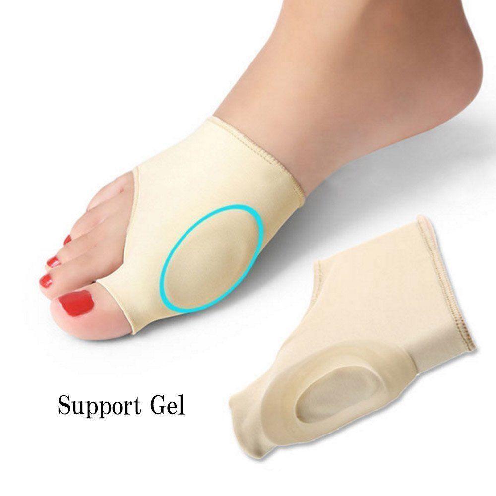 2 piezas de juanete Corrector Gel Pad estiramiento Nylon Hallux Valgus Protector Guard Toe Separator ortopédicos Suministros